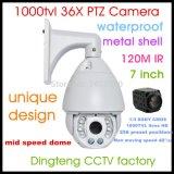 """7"""" cámara CCTV 700TVL 36X Zoom IR a velocidad media de la cámara domo de cámara PTZ 36X, 256 Presets 6+2ledlights (luces láser opcional)."""