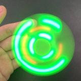 Fulgor do girador do dedo No diodo emissor de luz escuro do altofalante de Bluetooth do giroscópio da mão com o girador da mão do ABS