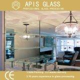 vidrio Tempered de la esquina rectangular del estante de 8m m con los bordes Polished planos
