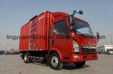 6 바퀴 HOWO 상자 트럭 또는 경트럭