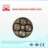 алюминиевый кабель низкого напряжения тока 4core электрический