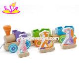 Het hoogste Stuk speelgoed van de Trein van de Dieren van het Vervoer van de Verkoop Houten Bezige Dierlijke voor 1 `2 de Éénjarigen W05c092 van Peuters