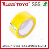 Cinta amarillenta transparente de calidad superior para el lacre del cartón