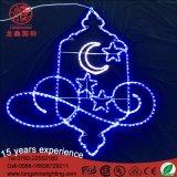 옥외를 위해 장식 LED Ramadan Eid Mubarak 주제 빛