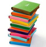 Novo Diário de couro colorida com bordas de tingimento