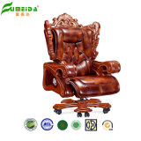 Parte girevole Executive Leather Office Chair con Solid Wood Foot (FY1303)