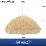 Lâmpada de madeira do pendente da microplaqueta do estilo moderno novo do projeto com bom preço