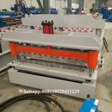 La Russia esportatrice 1030 mattonelle d'acciaio di punto del tetto di colore che formano macchina