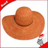 Chapéu de palha de papel de Sun do verão flexível da palha da praia