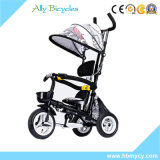 速い遠出のための押し棒/Portableの子供の三輪車を持つ傘のおおいの赤ん坊Trike