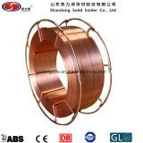 銅の上塗を施してある溶接ワイヤ
