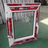 Guichet simple en verre clair simple de tissu pour rideaux de l'ouverture UPVC de carreau