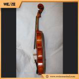 Violino inflamado Spruce contínuo profissional do bordo com a caixa oblonga do violino