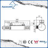 El cuarto de baño cromado termostáticas Mezclador de barra expuesta la ronda de la válvula de ducha (AF7260-7)