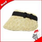ムギのわらのバイザーのわらの日曜日の女性の帽子