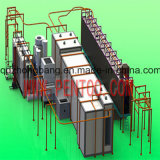 Ligne d'enduit favorable à l'environnement de poudre de qualité pour le réservoir de gaz