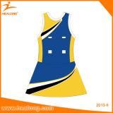 Sportswear uniforme Sublimated de Jersey do Netball do Netball do vestido do Netball