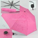 Surgissent la configuration quand le parapluie spécial de l'impression 3-Folding de pluie de rassemblement (YS3F0006)
