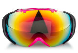 Lunettes confortables de casque de ski de lentille de PC de courroie réglable d'OEM