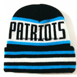 Bordados Stripe Hat/Tampa de malha Beanie Hat