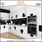 N&L現代光沢度の高いMDFの白いラッカー食器棚
