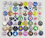 Gravierte Münze Keychain mit Firmenzeichen, geben Entwurf, niedriges MOQ, kundenspezifisches Firmenzeichen und Entwurf frei