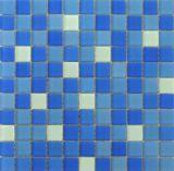Mattonelle di mosaico di vetro della piscina blu