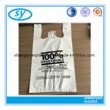 In het groot Goedkope Aangepaste Plastic het Winkelen van de T-shirt Zak