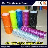 Пленка светильника автомобиля глаза кота пленки 4D автомобиля головная светлая