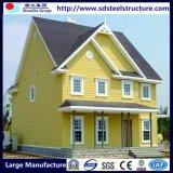 Casa residencial pré-fabricada clara modular econômica do frame de aço do calibre