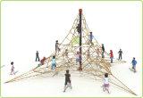 ロープスペースネットの演劇(KQ60143D)に上っているKaiqiの屋外のコンパクトな子供
