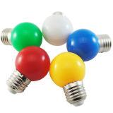 lumière de couleur de la lampe DEL de couleur d'ampoule colorée par DEL de couverture du PC 0.5W