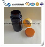 bottiglie di plastica dell'animale domestico della medicina di 100ml Brown scuro