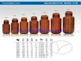 Янтарные стеклянные бутылки для рта Gpi 400 таблетки широкого