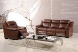 Wohnzimmer-Sofa mit modernem echtes Leder-Sofa stellte ein (729)