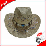 Chapéu de vaqueiro ocidental duro de papel do chapéu de vaqueiro do chapéu de palha do chapéu de vaqueiro