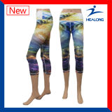 Healong 여자 각반을 인쇄하는 다채로운 Personlized 디자인 운동복 승화