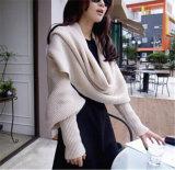 Späteste Entwurfs-Dame-beiläufiger strickender Poncho für Winter /Autumn