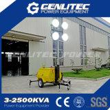 lampade Halide di metallo mobili della torretta chiara 4*1000W della Perkins dell'albero manuale di 9m (GLT4000-9M)