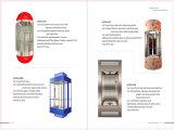 6 Personen-energiesparendes Gebäude-panoramisches Passagier-Glashöhenruder und preiswerte Rolltreppe