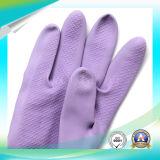 Anti luva ácida impermeável do látex para o trabalho de lavagem com alta qualidade