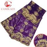 Più nuovo Bazin tessuto africano di Candlace 2017 con la camicetta di corrispondenza