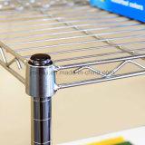 調節可能な水平になるフィートとの構成のための5つの層のワイヤ記憶装置ラック棚付けの単位可搬重量275のLbsの