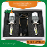 Doppio faro C6 pronto per l'uso H4 H13 9004 dell'automobile del fascio LED 9007 lampadine del faro dell'automobile H4 LED