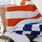 Van de Katoenen van 100% Handdoek van de Pool van de Handdoek van de Streep van de Handdoek van het Strand Handdoek van het Garen de Geverfte Zwemmende