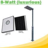 8W todo en luces de una calle solares del LED