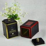 Kundenspezifisches kleines quadratisches schwarzer Tee-Zinn, Tee-Zinn-Kasten, schwarzer chinesischer Tee-Zinn-Kasten