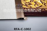 Le tapis en aluminium garnit le profil de bord de barre de porte