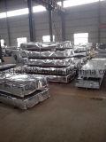 Hoja revestida acanalada del material para techos del metal del bajo costo para la estructura de acero