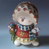 Het kleine Decor van het Huis van het Cijfer van de Lijst van de Hars van het Ornament van de Sneeuwman van het Standbeeld